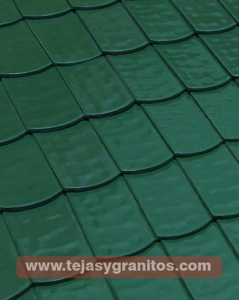 Teja Francesa Verde 10x20cm