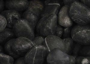 "Piedra de Marmol Negra 1.5"""