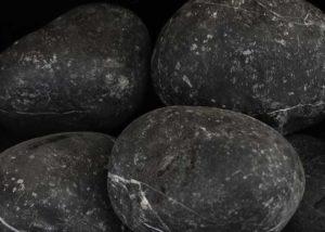 "Piedra de Marmol Negra 3.5"""