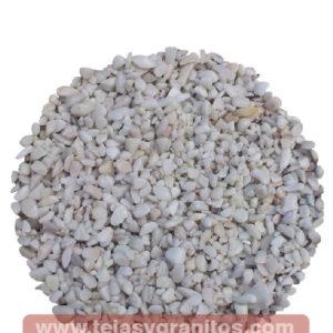 Piedra de Mármol Blanca Gravilla 1-3