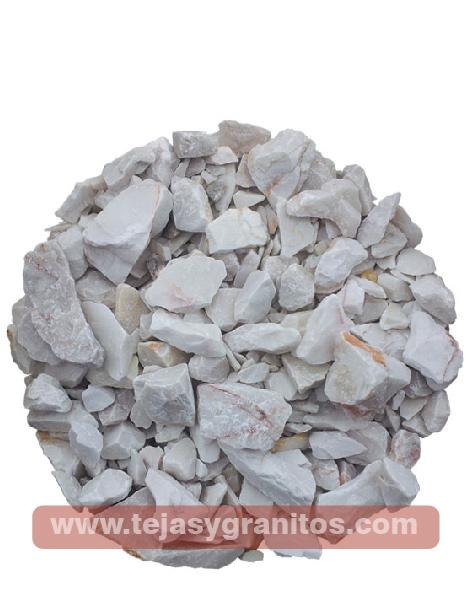 Piedra de Mármol Blanca Gravilla 4-5