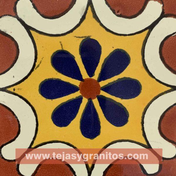 Azulejo de Talavera Aravezco Terracota
