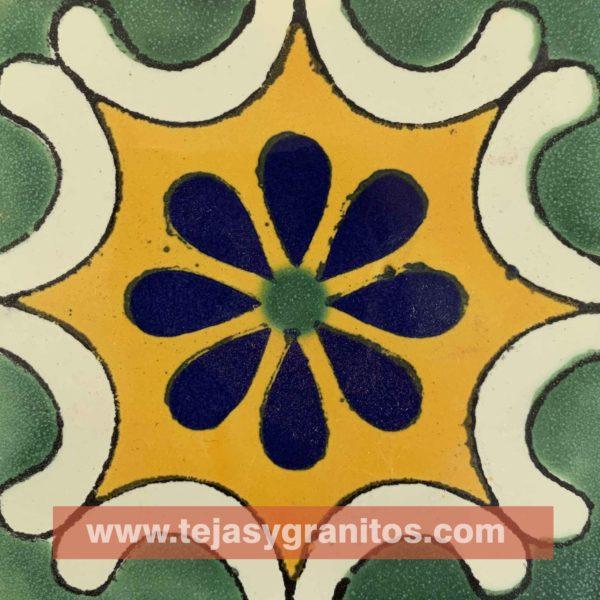 Azulejo de Talavera Aravezco Verde