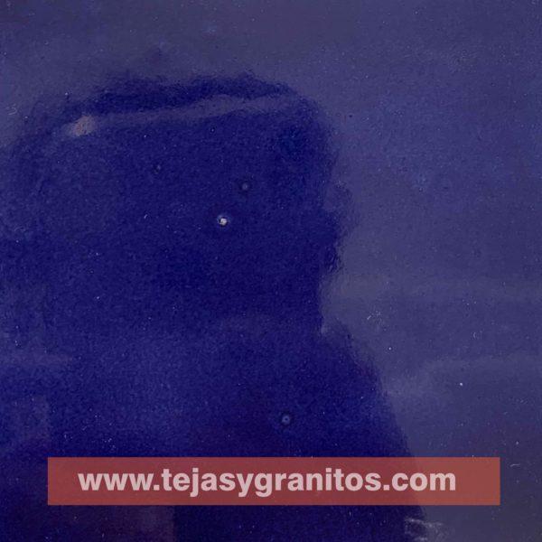 Azulejo de Talavera Azul Deslavado