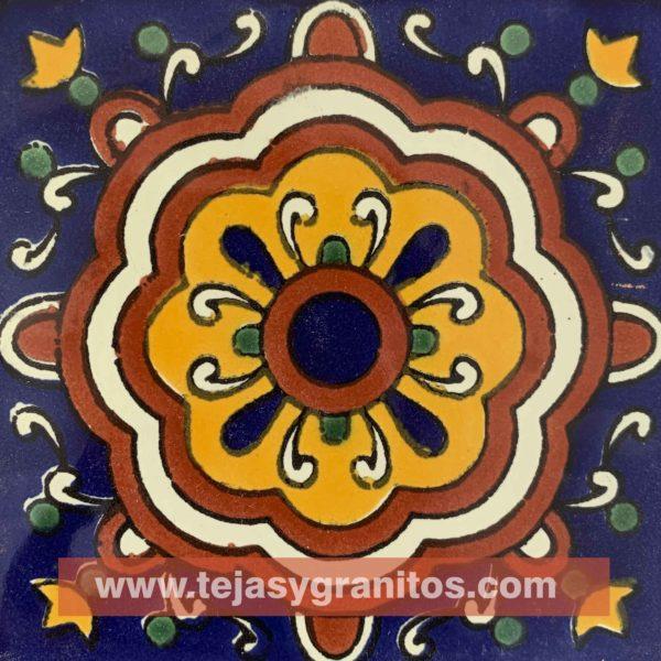 Azulejo de Talavera Cupula Azul