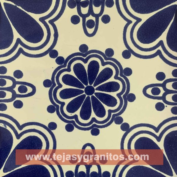 Azulejo de Talavera Lace Azul