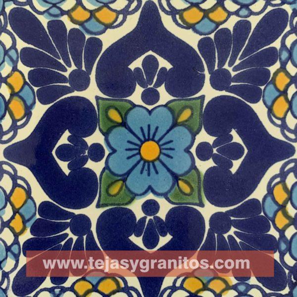 Azulejo de Talavera Lluvia Turqueza