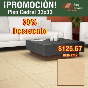 Piso Cedral 33x33
