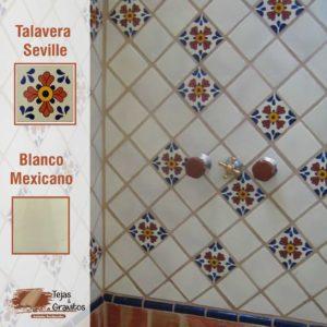 Talavera Blanco Mexicano y Seville