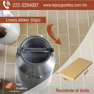 Loseta Klinker Antiacida (piso industrial)