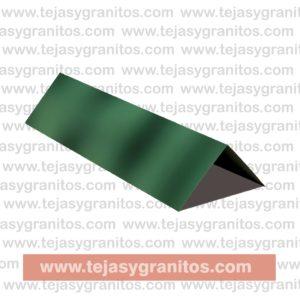 Cumbrera Lamina tipo teja Flameado Verde-01-01