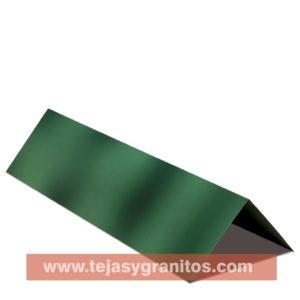 Cumbrera Lamina tipo Teja Flameado Verde
