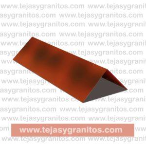 Cumbrera Lamina tipo teja Flameado rojo-01-01