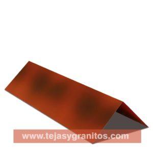 Cumbrera Lamina tipo Teja Flameado Rojo